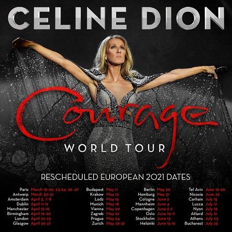 セリーヌ・ディオン、ツアーの延期スケジュール