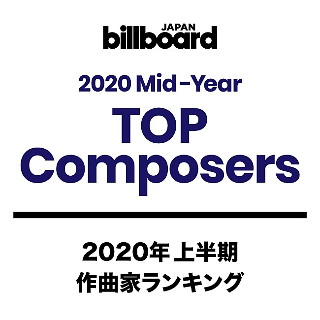Billboard JAPAN 2020年上半期TOP Composers