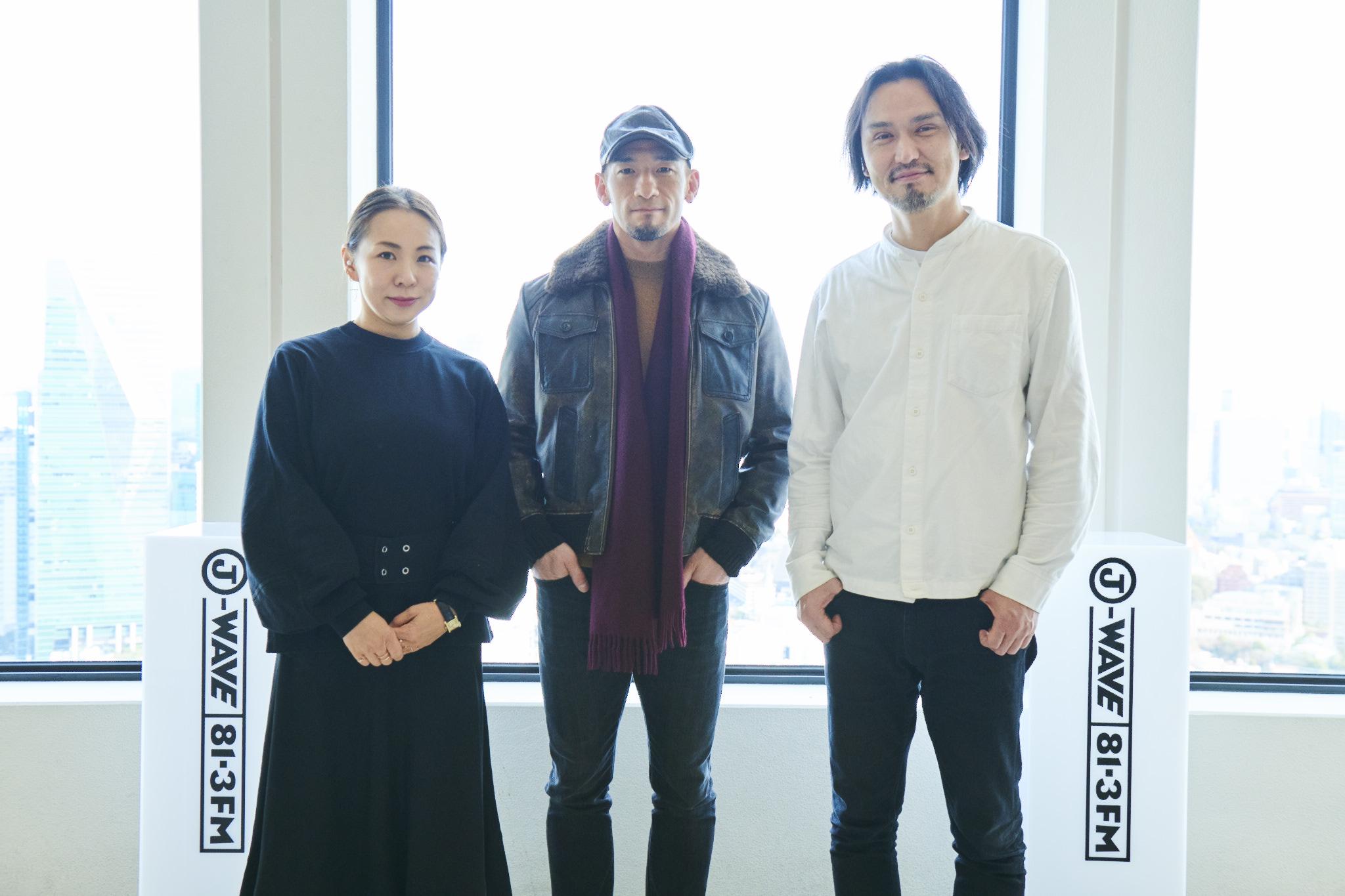 左から永山祐子氏(建築家)、中田英寿氏(元サッカー日本代表)、生江史伸氏(シェフ)